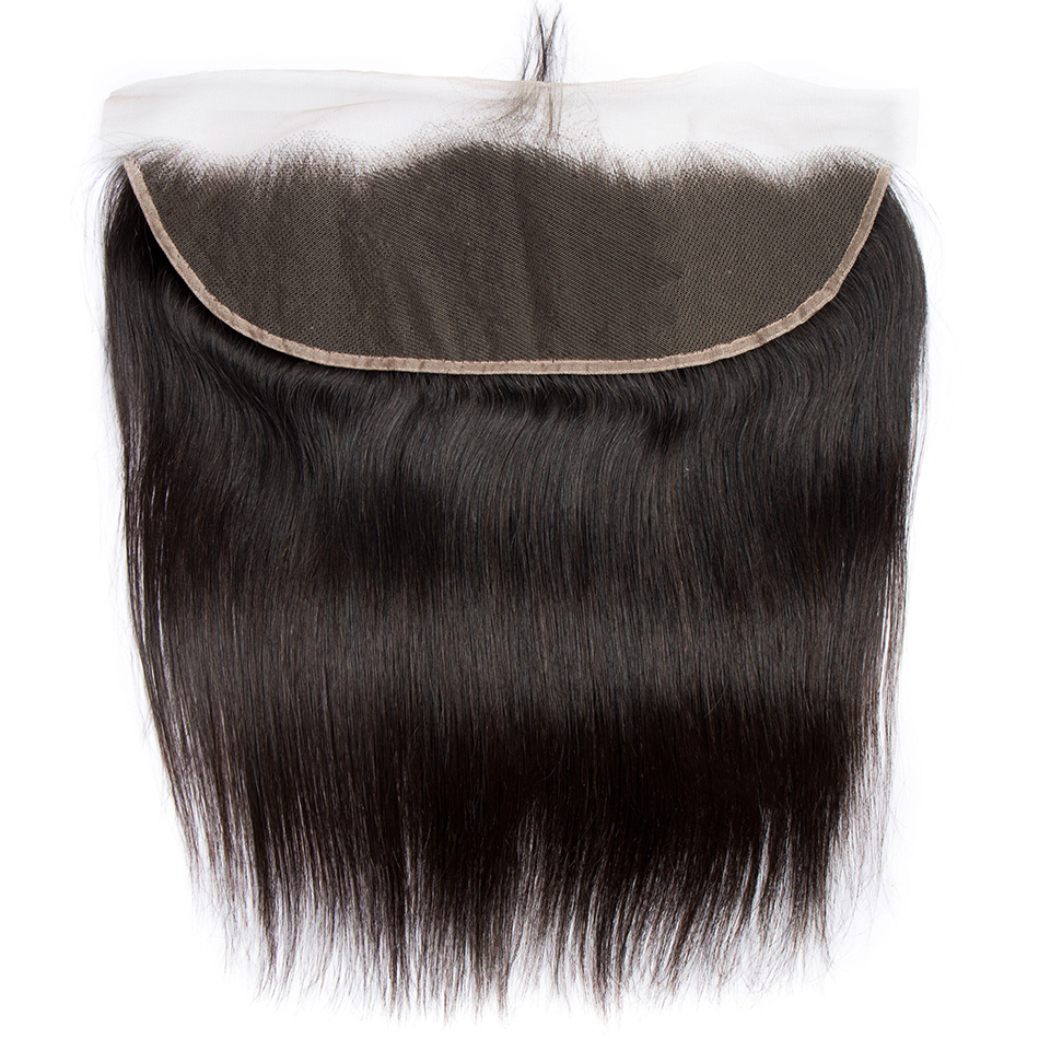 Peruvian Straight Lace Frontal Closure Pre Plucked Natural Hairline Ear To Ear Full Lace Closure 130