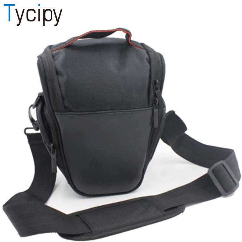 Tycipy Camera Bag Fashion Canvas Shoulder Multi-functional Waterproof Camera Case for Sony Canon DSLR Nikon Camera Bags Lens