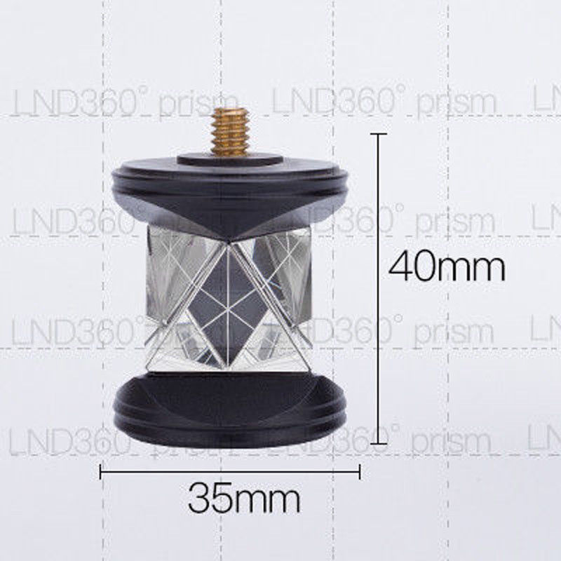 New Mini Silver plated prism 360 Degree Prism only prism headsNew Mini Silver plated prism 360 Degree Prism only prism heads