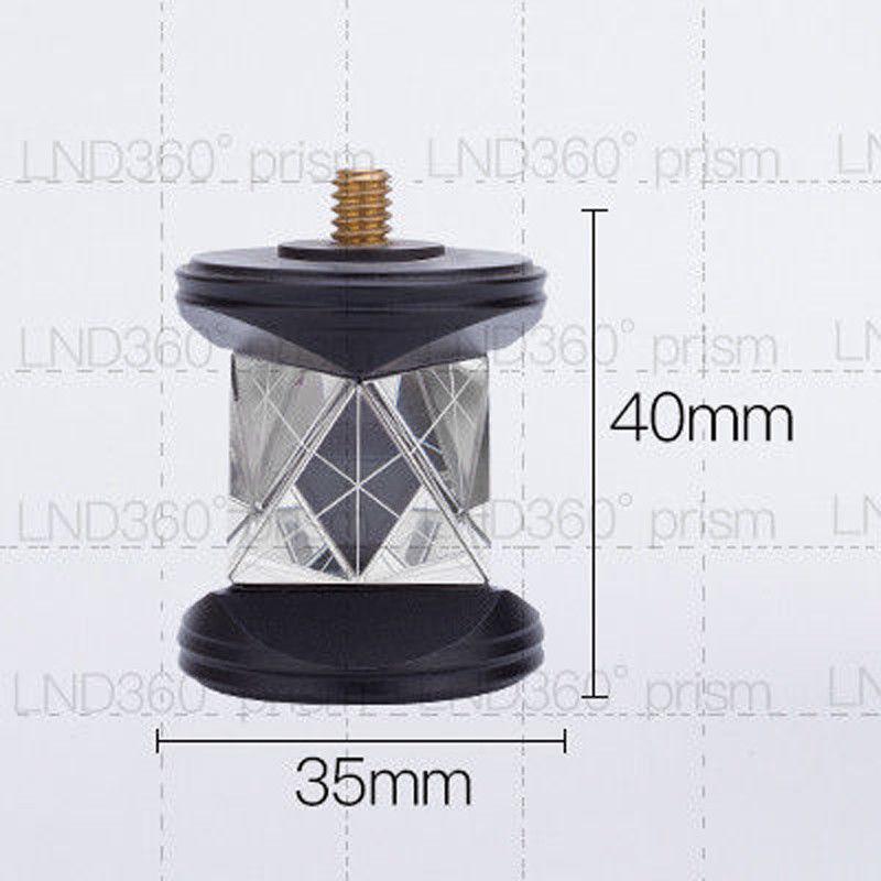 Novo Mini Prata banhado prisma Prisma de 360 Graus apenas cabeças de prisma