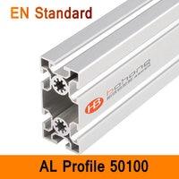 50100 Aluminium Profile EN Standard DIY Brackets Aluminium AL Extrusion CNC 3D DIY Printer Parts Aluminum Long Pipe T Slot