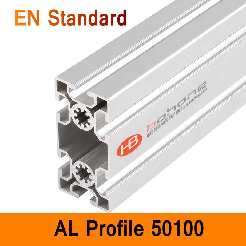 50100 Aluminium Profile EN Standard DIY Brackets Aluminium AL Extrusion CNC 3D DIY Printer Parts Aluminum Long Pipe T Slot