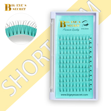 BES Short Stem 3D-6D Russian Premade Volume Fans Eyelashes Extension C D Curl 0.07 Thickness Heat Bonded Makeup Tools