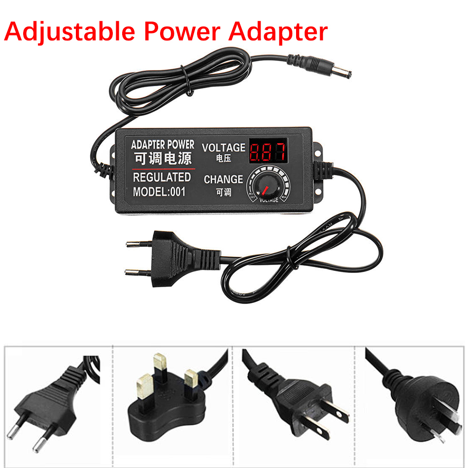 9-24 v <font><b>3A</b></font> 1A <font><b>AC</b></font>/DC <font><b>Adapter</b></font> Einstellbare Power <font><b>Adapter</b></font> Speed Control Volt Display Für DC Motor licht Dimmer Mayitr image