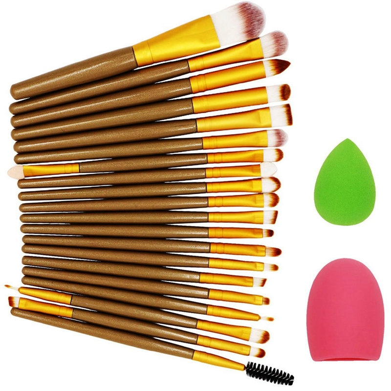 Beauty 22pcs Makeup Brush professional Brand Make up Sponge Puff Blender Cleaner Foundation powder eyebrow Brushes Cosmetic