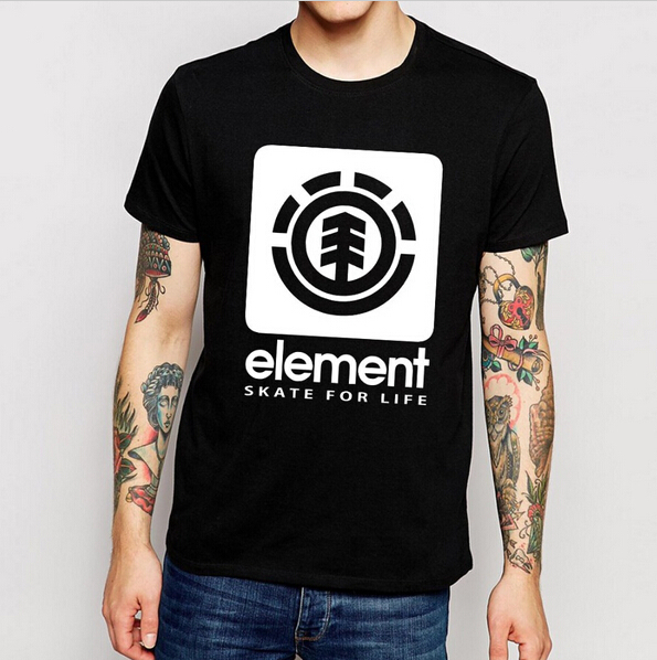 Free Shipping Element T Shirts Men Cotton Man Tshirt O