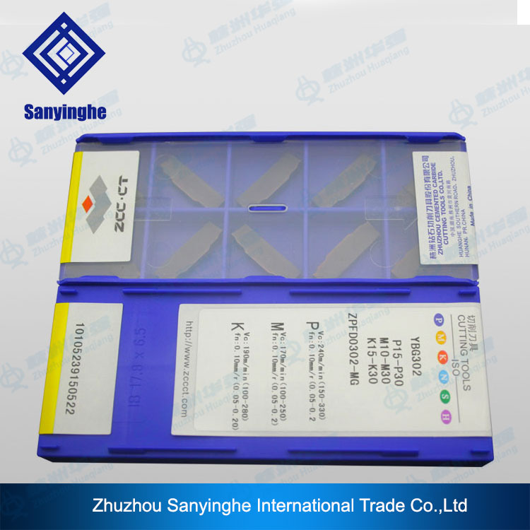 Free shipping ZCC CT YBG302 ZPFD0302 MG carbide inserts grooving cutting blade 10pcs lots