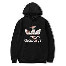 เกมบัลลังก์ Dracarys พิมพ์สบายสบาย Hoodies Sweatshirt Men แฟชั่น Hipster Casual Basic Pullovers Hoodies 4XL