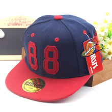 2016 fall new children's hat Affixed cloth 88 hip hop fashion baseball caps kids boy summer hip-hop cap