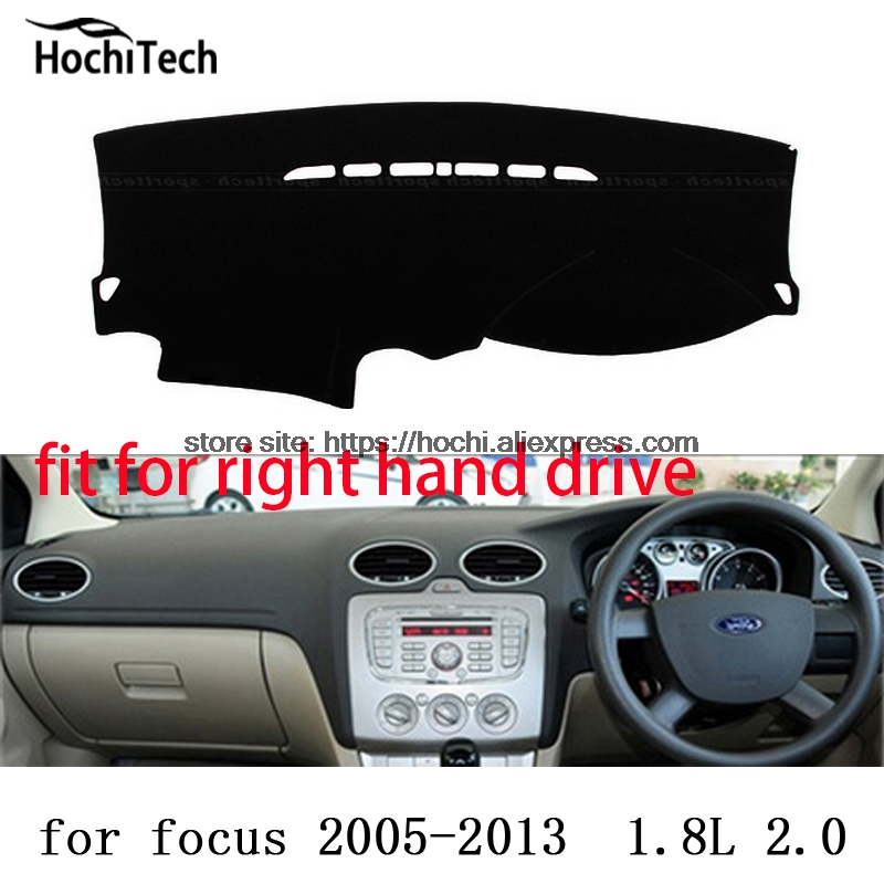 For ford focus ST right hand drive dashboard mat Protective pad black Red car-styling Interior Refit sticker Mat products for toyota prius 2012 2013 right hand drive dashboard mat protective pad black car styling interior refit sticker mat products