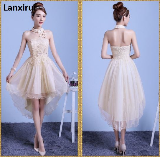 Women Lace Prom Floral Formal Evening Party Short Ball Gown Dress Retro Style Hollow out Lace Princess Dress in Dresses from Women 39 s Clothing