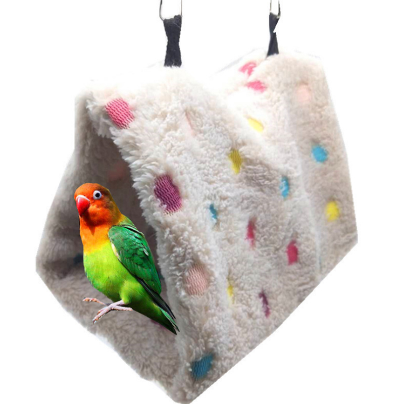 1Pcs Parrot Birds Hamster Nest New Soft Plush Winter Warm Cotton Nest Bird Hanging Cave Cage Parrot Bird Toys Hammock Supplies