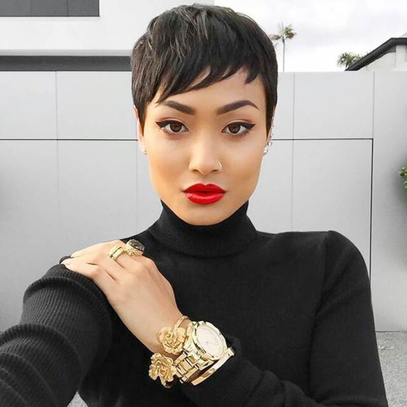 Stupendous Online Get Cheap Pretty Hair Styles Aliexpress Com Alibaba Group Short Hairstyles For Black Women Fulllsitofus
