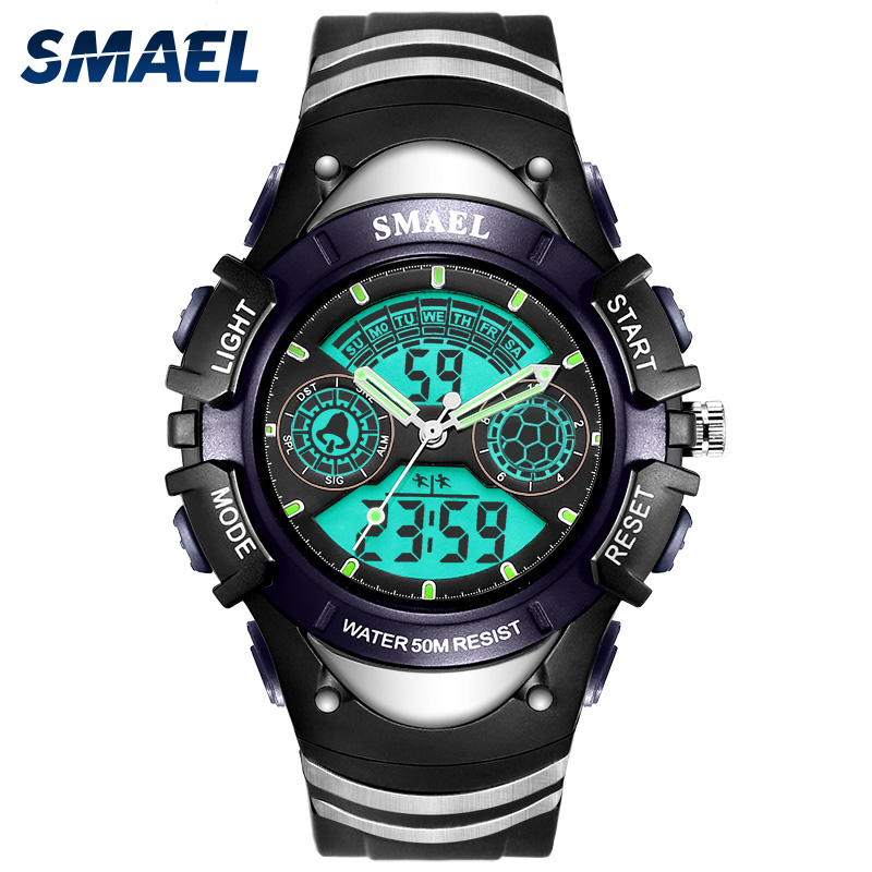 Children Watches SMAEL Brand Sport Watches Hot Digital Children's Watch 50M Swim Dress LED Auto Date Clock 0616A L(Boy)/S(Girl)