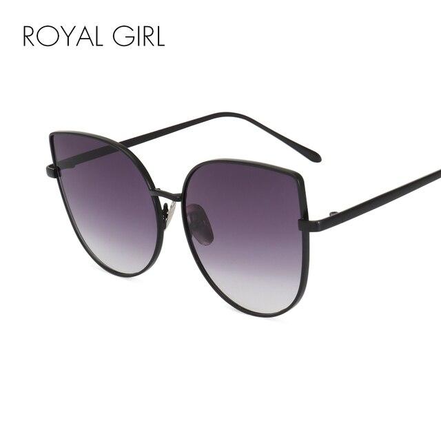ROYAL MENINA Nova marca de grife Mulheres óculos frames Do Vintage retro lente clara óculos de Armações de metal de grandes dimensões ss716