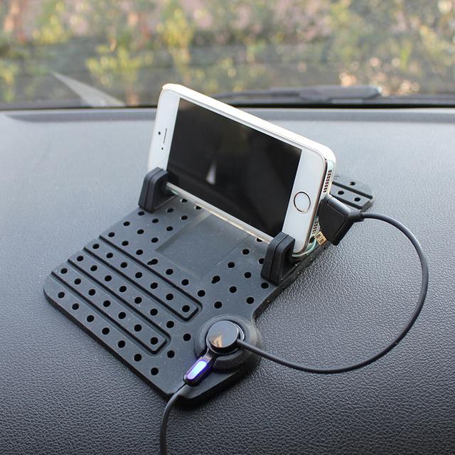 Mesa de instrumentos Auto Sostenedor Del Teléfono GPS Cargador Multifuncional Ventosa Magnética Coche-Syling Accesorios Interiores de Automóviles