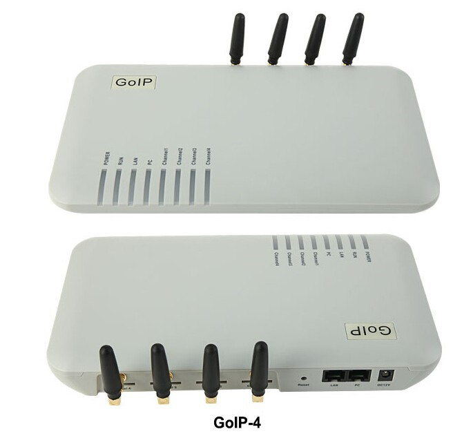 Fast Shipping goip 4 gsm gateway Quad Band GOIP 4 GSM Voip gateway 4 SIM Card