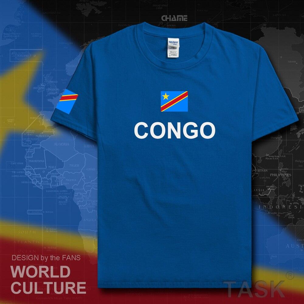 DR Congo men t shirt 2017 jersey nation 100% cotton t-shirt clothing tees country sporting COD DRC DROC Congo-Kinsha Congolese