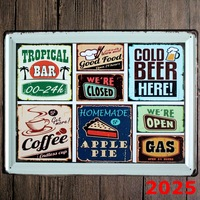 BEER COFFEE New large Tin plate signs movie poster Art Cafe Bar Vintage Metal Painting wall stickers home decor 30X40 CM