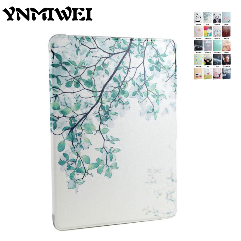 Tablet Case Cover For ipad air 1 2 Colorful Print Shockproof Slim Soft TPU Protective Stand for iPad 5 6 9.7 Cartoon Smart Case high quality thickening tpu silicone cover for ipad air ipad 5 case fashion soft transparent froste cover air1 tablet pc stand