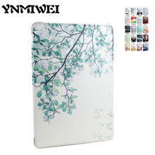 Tablet Case Cover For ipad air 1 2 Colorful Print Shockproof Slim Soft TPU Protective Stand for iPad 5 6 9.7 Cartoon Smart Case
