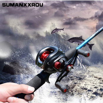 High Quality 12BB 7.0:1 Right or Left Hand Baitcasting Fishing Reel Bait Casting Spinning Reels Red carretilha de pesca ZT2
