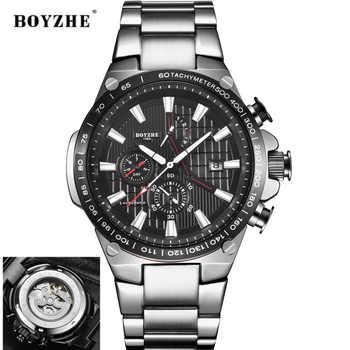 2019New Männer Automatische Mechanische Uhr Mode Lässig Luxus Edelstahl Top Marke Sport Selbst Wind Uhren Relogio Masculino