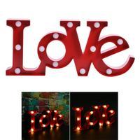 3D TÌNH YÊU Shaped LED Night Light Tường Lãng Mạn Đèn Wedding Party Trang Trí Ấm Đèn Bảng Trắng Phòng Ngủ Bầu Không Khí