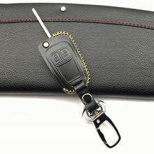 Car Wallets Genuine Leather key cases sets key bags for Opel Mokka Astra Corsa Antara for Chevrolet for Cruze 2 Buttons fold key