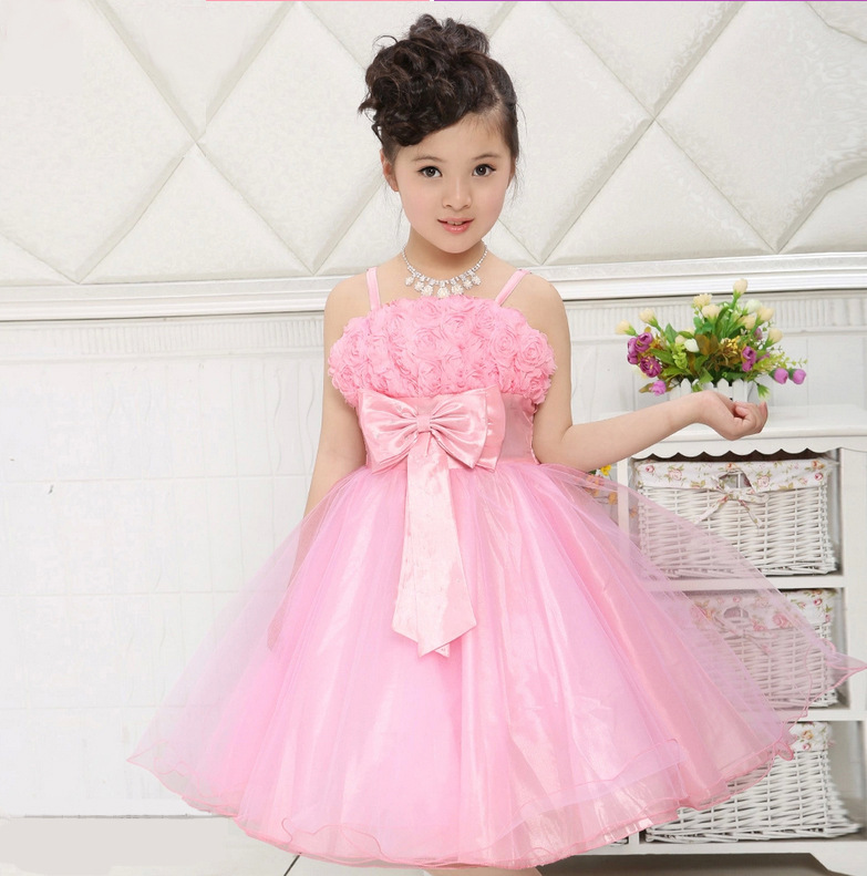 Girl Party Dress Rose Petal Kids Girl Princess Dress 3 12 Years ...