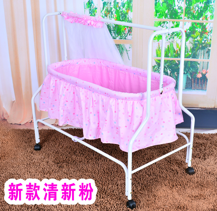 Baby Schommel Bed.Folding Baby Cradle Crib With Netting Newborn Baby Rocking Crib