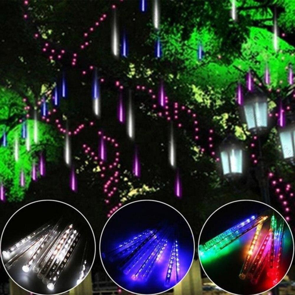 8pcs/Set 30CM Meteor Shower Rain Tubes Light Multi color AC110 240V Christmas LED String Light ...