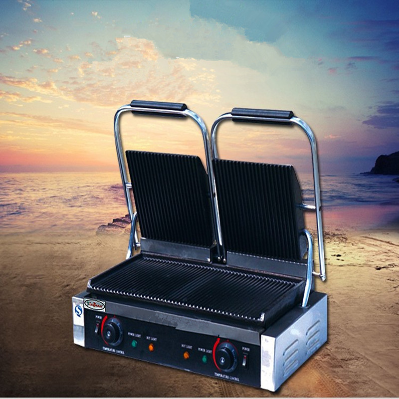 Commercial Grill Sandwich Maker Press Griddle Panini Grill Electric Grill Sandwich ZF royal grill