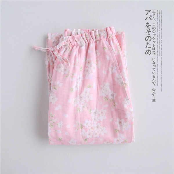Fdfklak nuevos productos 2018 Pijamas Pantalones mujer chándal pantalones para mujeres verano algodón ropa de dormir pantalones Q934