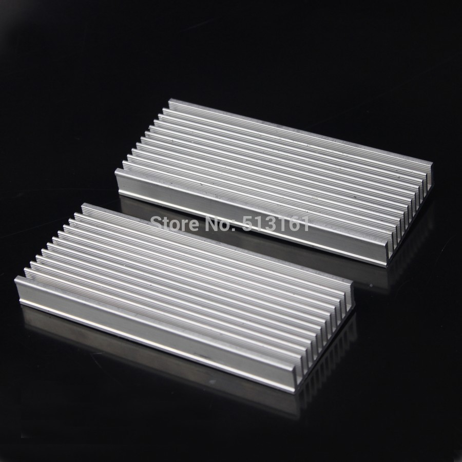 Купить с кэшбэком 5pcs/lot 120x50x12mm Radiator Aluminum Heatsink Extruded Profile Heat sink for Electronic Heat Dissipation