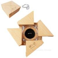 Free shipping 1pcs customization perpsonal Manual engagement marriage proposal wedding Organ surprise gift ring box
