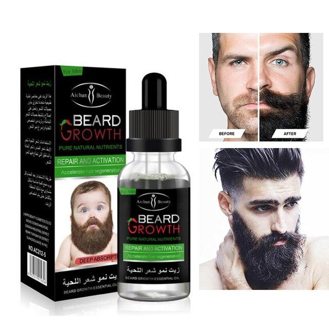 Men S Facial Hair Grow Thick Beard Growth Serum Mustache Growth
