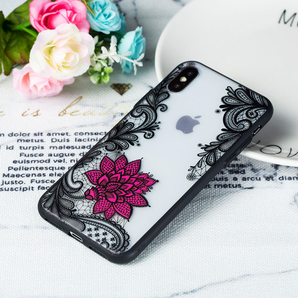 KIPX1059_6_JONSNOW Phone Case for iPhone 5S 6S 7 8 Plus Emboss Floral Rose Lace Protective Case for iPhone X XR XS Max PC Back Cover