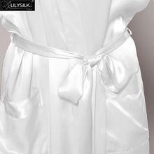 LILYSILK Women's Silk Robe Long 22 Momme Pure Silk