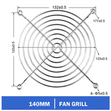 10pcs/lot Gdstime 140mm Fan Grill Protector Silver Metal Finger Guard Used for