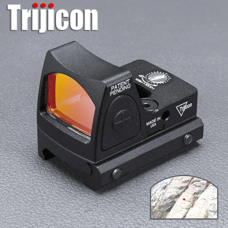 Mini RMR Red Dot Scope di Regolazione/Mirino Reflex Collimador Glock Airsoft 20mm Guida Del Tessitore/Fucile di Caccia Cannocchiale ak 47