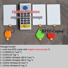 125KHz  13.56 MHz RFID ID/IC NFC Card Reader & Writer/Copier/Programmer+EM4100/EM4305/T5577/m1 s50 UID changeable Rewritable Tag