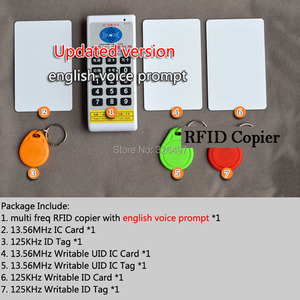 Image 1 - 125KHz  13.56 MHz RFID ID/IC NFC Card Reader & Writer/Copier/Programmer+EM4100/EM4305/T5577/m1 s50 UID changeable Rewritable Tag