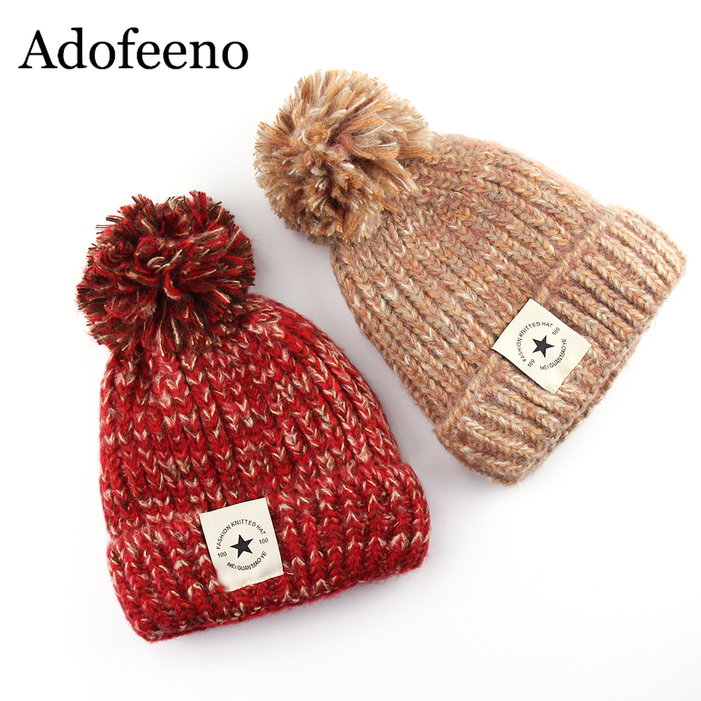 Adofeeno Fashion Knitted Winter Hats for Women Skullies ...