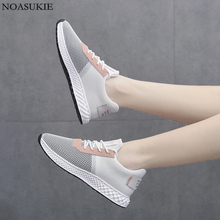 Fashion Mesh Breathable Shoes Women Chunky Sneakers Lightweight Stitching Platform Buffer Fitness Jogging Sports