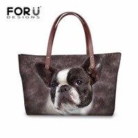 FORUDESIGNS Tote Bag Brand Baobao Women Handbag Bulldog Lion Owl Printed Shoulder Bags For Women Handbags