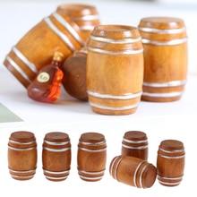 6 sztuk 1/12 domek dla lalek miniaturowa Vintage beczka na piwo Model dekoracja zewnętrzna mikro