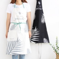 Nordic wind Adult Lady Men Adjustable Cotton High-grade Cooking Kitchen Apron For Women Baking Restaurant Pinafore bib Wholesale