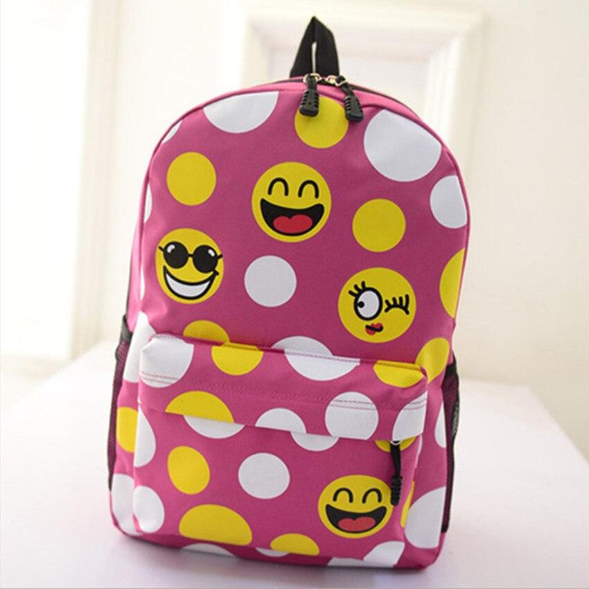 Oxford Smiley School Bag Školní batoh EXO Tisk Barevný batoh Harajuku Zip Cestovní batoh Levné zboží Doprava zdarma