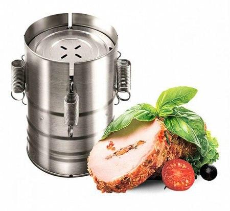 Ham Presse VETTA In Acciaio Inox a base di Carne di D11X17SM per fare Strumento Carne di Figura Rotonda Presse Maker 822-021